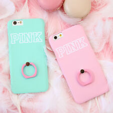 Cute Candy Colored Finger Ring Stand Hard Case Cover for Apple iPhone 6/6S 6Plus