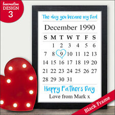 The Day You Became My Dad Keepsake Personalised Fathers Day Gifts Print Daddy