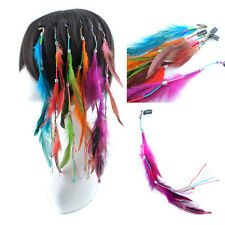 Fashion True Cock Feather 30cm Long Clip in Feather Hair Extension Lot