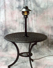 Table top lamp light, outdoor patio, deck, electric,weather proof white or black