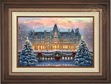 "Thomas Kinkade Christmas at Biltmore 18"" x 27"" Limited Edition G/P Canvas Framed"