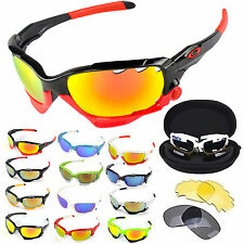Outdoor UV 400 Sport Cycling Bicycle Bike 3 Lens Protection Goggle Sun Glasses