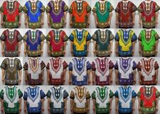 Dashiki Mens Shirt African Hippie Vintage Womens Top Boho Tribal Blouse One Size