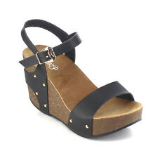 Refresh AB26 Women's Ankle Strap Comfort Wide Band Platform Wedge Sandals