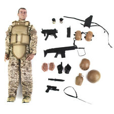 """1/6   Army Combat Desert ACU Soldier 12"""" Action Figure with Accessories"""