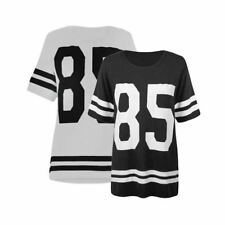 Ladies 85 logo loose fitting baseball style tshirt / top