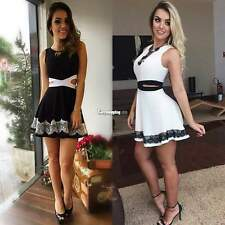Hot Summer Women Casual Sleeveless Cocktail Party Lace Mini Dress Clubwear ES9P