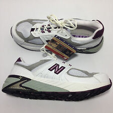 New Balance 'WR1123MC' (White/Purple & Gray) Women's Running Shoes Size: 13 (D)