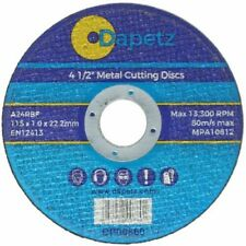 "115mm 4.5"" Ultra Thin Metal Cutting Disc 4 1/2"" Steel & Stainless Quality 1mm"