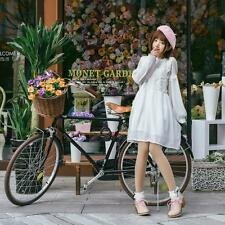 2016 Spring and Summer  Cute  Girl's Long Sleeve White Lovely Chiffon  Dress