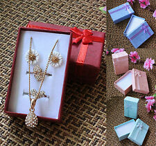 Wholesale 24Pcs Bow Paper Rectangle Jewelry Necklace Bracelet Ring Gift Box Case