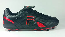 Fila Forza III MD Black Red Men Soccer Shoes New In Box