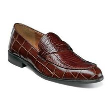 Stacy Adams Corsica Mens shoes Cognac  crocodile Print Leather Loafer 25027-221