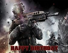 Call of Duty Personalized Edible Image Premium Cake Topper Frosting Sheet 4 Size