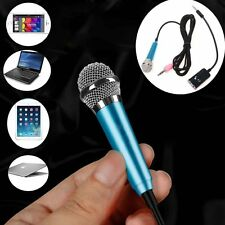 3.5mm Jack Stereo Plug Microphone Mic + Stand For PC Laptop Notebook MSN Skype
