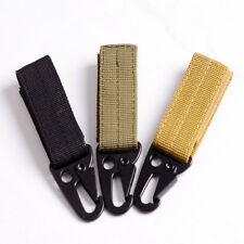 Carabiner Tactical Nylon Webbing Backpack Buckle MOLLE Hanging Buckle + Hook