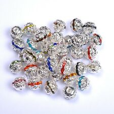 Quality Czech Crystal SILVER PLATED Charms Spacer BEADS - Choose 681012MM