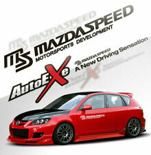 1 pair Car modification MS MAZDASPEED car sticker AutoExe car decal for mazda