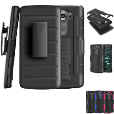 For LG V10 /G4 Pro Armor Hybrid Rugged Holster Belt Clip Hard Case Cover Stand