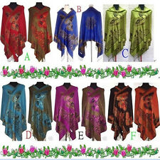 Hot Sale Fashion Chinese Lady Double-Sided Butterfly Pashmina Scarf Wrap Shawl