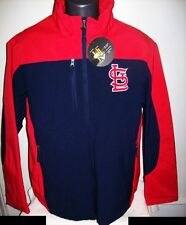 ST. LOUIS CARDINALS Soft Shell FOUL WEATHER Jacket BLUE & RED Size: XL