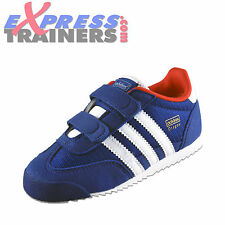 Adidas Originals Dragon CF Velcro Infants Toddlers Boys Trainers Blue