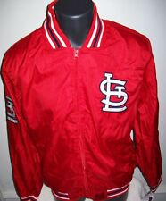 ST. LOUIS CARDINALS Ripstop Nylon Jacket with attached hood LARGE,   RED