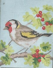 CHRISTMAS BERRY bird study tapestry  20X25CM CANVAS ONLY OR KIT - YOUR CHOICE!