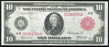 FR. 895b 1914 $10 LARGE SIZE RED SEAL FRN FEDERAL RESERVE NOTE VERY FINE+