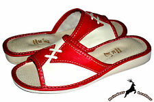 Women's Ladies Natural Leather Fashion Handmade House Slipper Shoes Sandal Mule