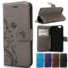 PU Leather Wallet Card Pocket Pouch Case Cover Skin For iPhone 5&5s SE 6&6s/Plus