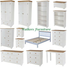 Capri White & Pine Bedroom Furniture | Wardrobes | Chests | Dressing Table | Bed