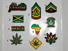 Iron on Patch Sew On Embroidered Rasta Reggae JAH Jamaica Badge
