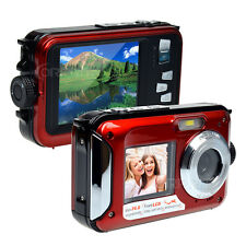 Dual Screen 3m Waterproof HD 1080p Digital Camera Camcorder 16xDigital Zoom 24MP