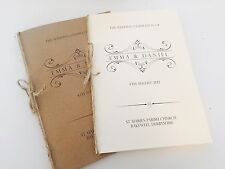 10 x Vintage/Rustic Wedding 'Emma' order of service covers -Ivory or brown