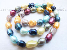 8-9mm baroque genuine cultured nature freshwater pearl loose beads necklace