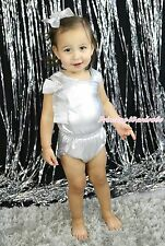 Bling Silver Gray Party One Piece Baby Girls Romper Jumpsuit Bodysuit NB-18Month