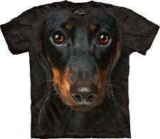 The Mountain Brand DACSHUND FACE Vintage Style Dog Puppy T-Shirt Adult Mens