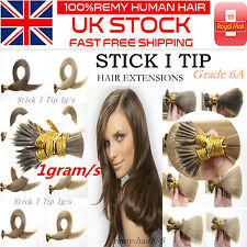 New Arrival 16''-22'' 1g/s Stick Tip I Tip 100% Remy Human Hair Extensions In UK