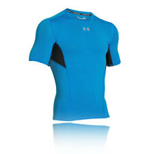 Under Armour Coolswitch Mens Blue Short Sleeve Compression T Shirt Tee Top
