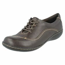 SALE* CLarks Embrace Brook Ladies Brown Leather Lace Up Casual Comfortable Shoes