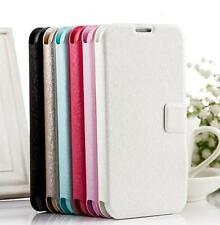Luxury Slim Wallet Silk Leather Stand Flip Case Cover for Samsung Galaxy Win