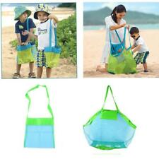 Kids Portable Beach Toys Storage Bag Large/Small Tote Sand Mesh Bag Accessories