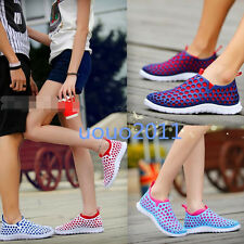 Womens Mens Flats Hole Leisure Slip On Loafers Sports Beach Multi Colour Shoes