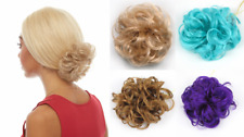 "CURLY HAIR SCRUNCHIE PONYTAIL HOLDER HAIRPIECE 3"" HAIR EXTENSIONS ON ELASTIC"