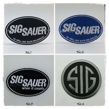 SIG SAUER Sew On Patch Iron Embroidered Firearms Weapons Pistol Gun Badge Logo