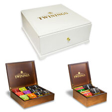 Twinings Wooden 4, 9 & 12 Compartment Boxes - Optional Twinings Enveloped Tea