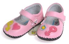 "Caroch ""Adore"" Pink Girls Leather Soft Sole Shoes Baby Toddler"
