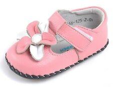 "Caroch ""Peony"" Pink Girls Leather Soft Sole Shoes 6 to 24 months Baby Toddler"