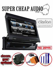 "CLARION VZ402A DVD 7"" FOLD OUT CAR AUDIO VIDEO SCREEN USB DVD BLUETOOTH IPOD"